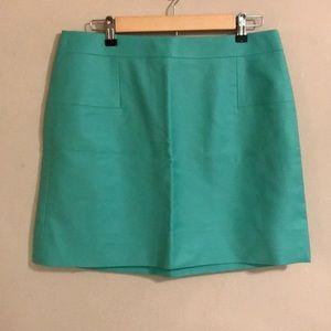 J Crew Spearmint Green Skirt Size 12